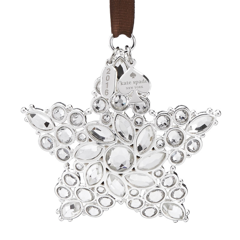 kate spade Bejeweled Annual Ornament 2016 | Silver Superstore