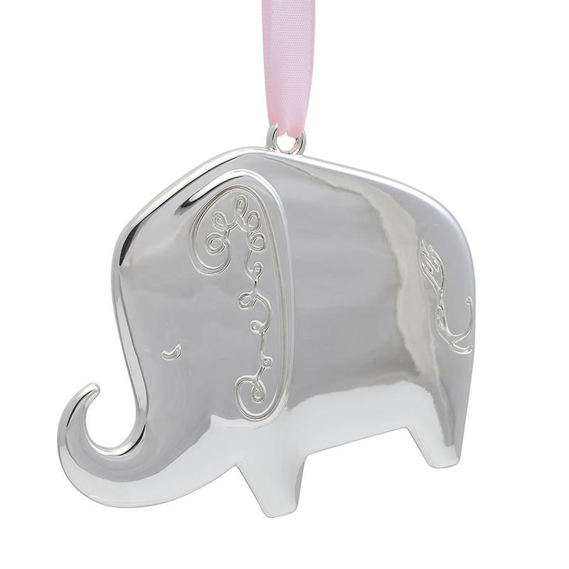 kate spade Baby\'s First Christmas Ornament 2018, Elephant | Silver ...