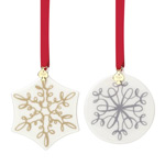 kate spade Jingle All the Way Ornaments, Set of 2 2017 Ornament | kate spade Christmas Ornament | Christmas Snowflake and Ball