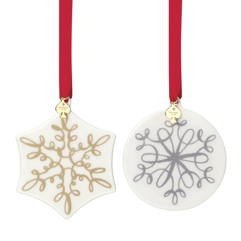 kate spade Jingle All the Way Ornaments 2017 | Silver Superstore