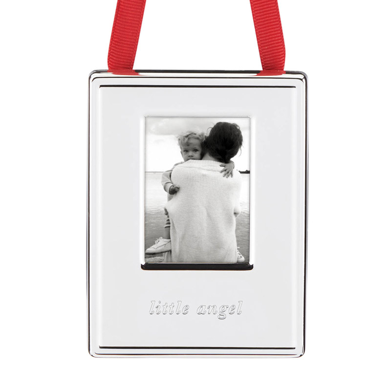 Darling Point Picture Frame Ornament, Little Angel | kate spade new york ornament | Photo ornament