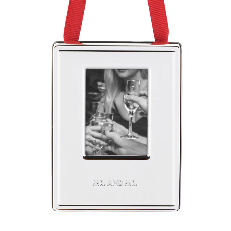 Darling Point Picture Frame Ornament, Mr. and Mr. | kate spade new york ornament | Gay Wedding Photo ornament