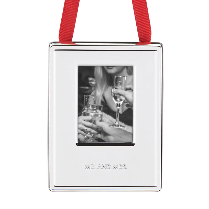 kate spade Darling Point Picture Frame Ornament, Mr. and Mrs. Ornament