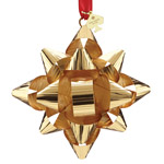 Gold Tinsel Topper Gold Christmas Bow Ornament from kate spade new york