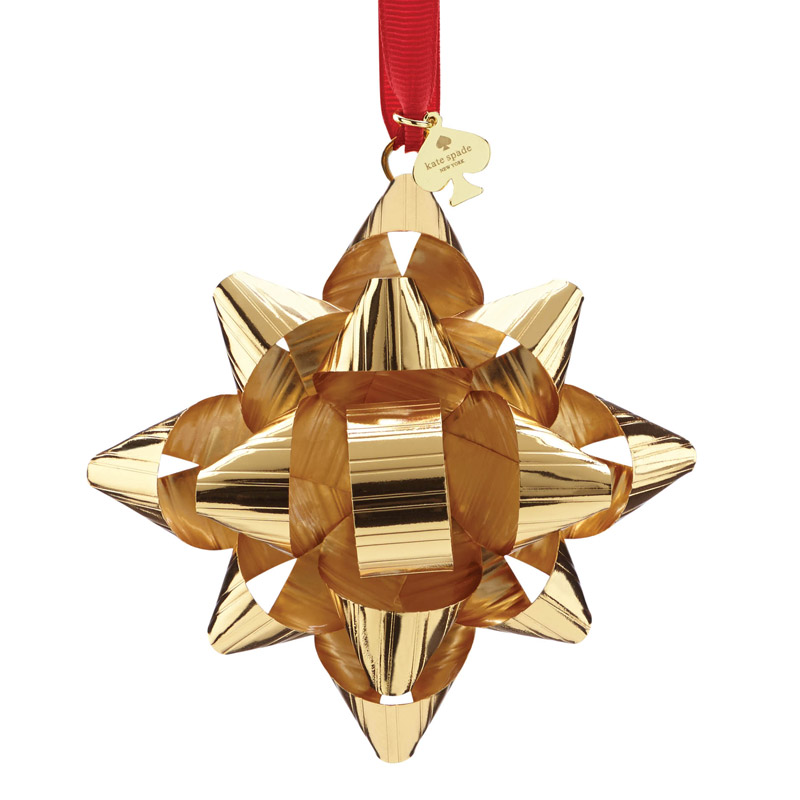 kate spade Gold Tinsel Topper Ornament | Silver Superstore