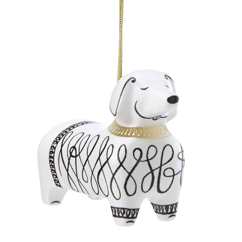 kate spade Woodland Park Dachshund Ornament | Silver Superstore