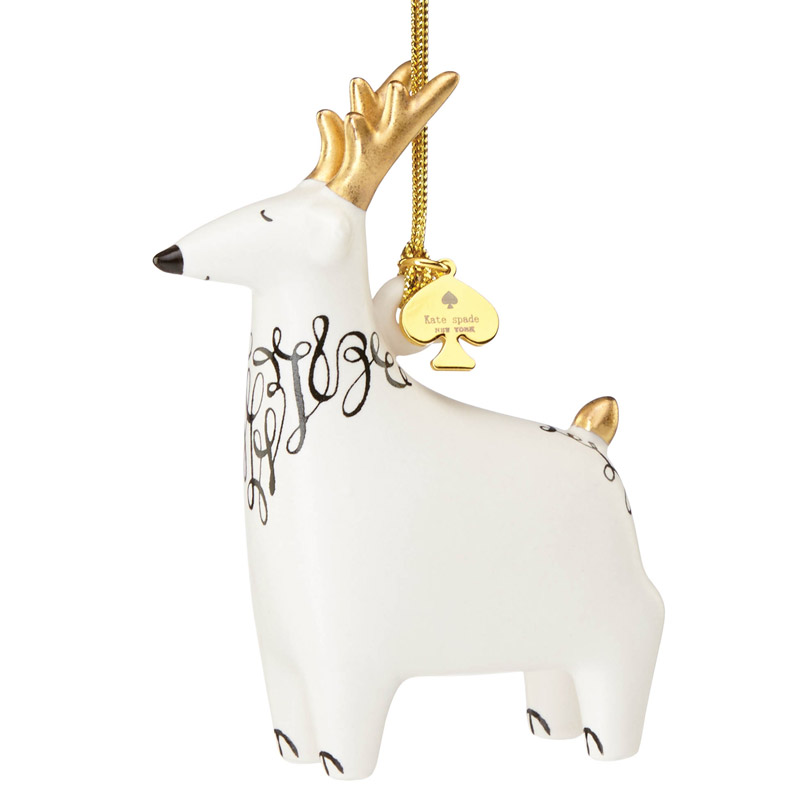 kate spade Woodland Park Reindeer Ornament | Silver Superstore