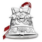 2016 Repousse Annual Ornament, Christmas Bell, Kirk Stieff Christmas Ornament