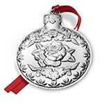 2017 Kirk Stieff Repousse Annual Sterling Silver Christmas Ornament