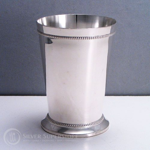 Mint Julep Cups By Elegance Silver Beaded Custom Engraving Available