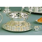 Elegance Silver Romantica 13pc Punch Bowl Set Silver Plate