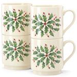 Lenox Hosting the Holidays Stackable Mugs, Set of 4