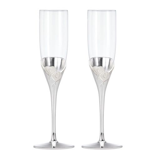 True Love Toasting Flutes are the perfect gift for a wedding!
