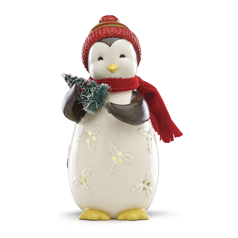 merry and light lit penguin lenox christmas tree decoration our first christmas