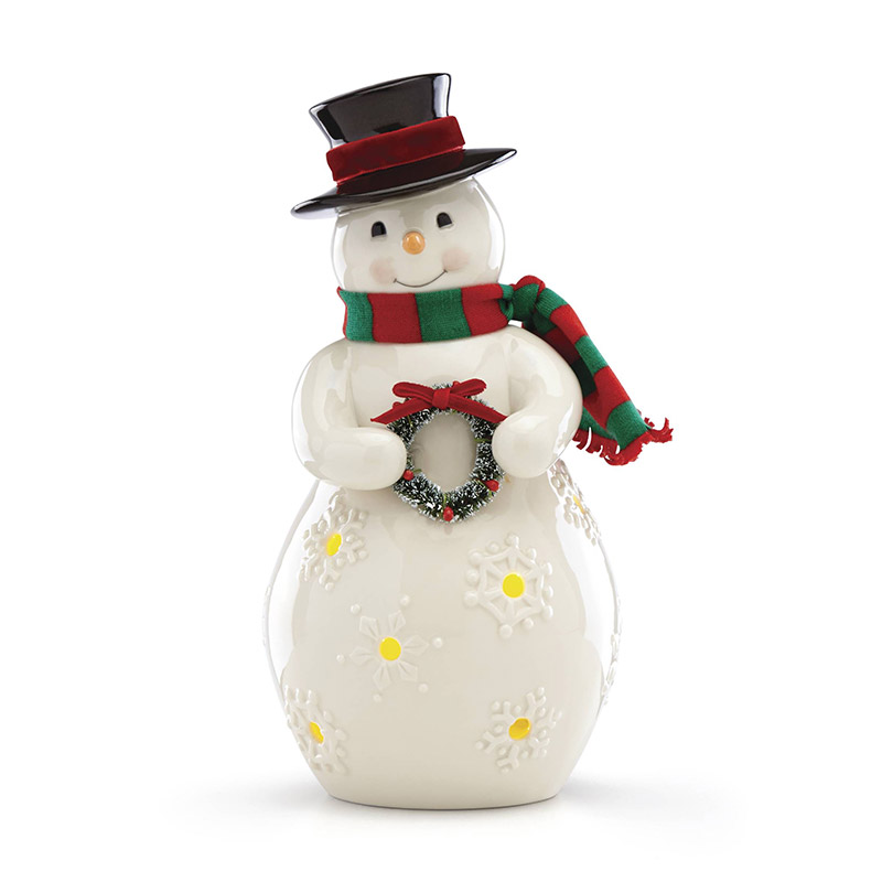 7600b8c9a44df Merry and Light Lit Snowman Decoration 2018