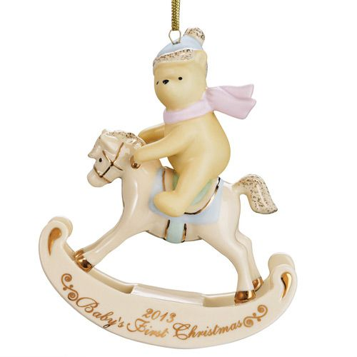 2013 Lenox Winnie The Pooh Baby's First Christmas Porcelain Ornament