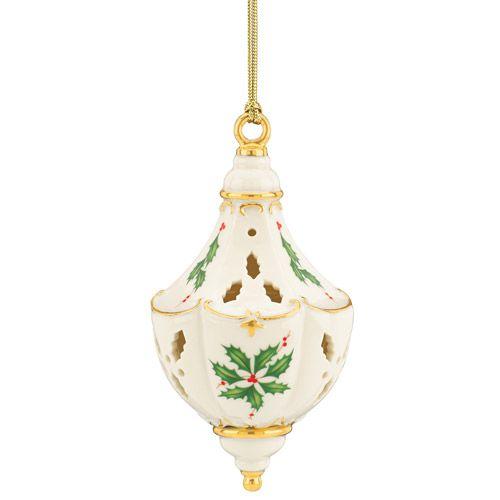 Lenox holiday pierced porcelain christmas ornament
