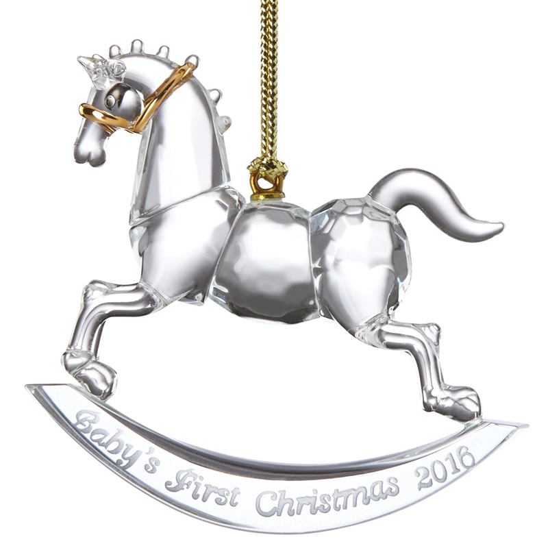 Christmas Tree Ornaments Horse: Baby's First Christmas Ornament 2016, Rocking Horse