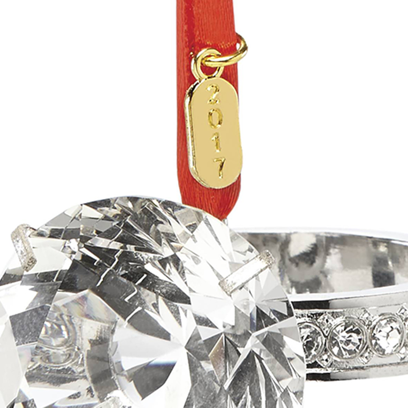 Engagement Ring Ornament 2017