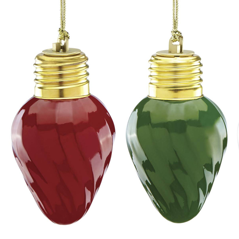 Christmas Light Bulb Decorations: Lenox Mini Vintage Light Bulb Ornaments 2017