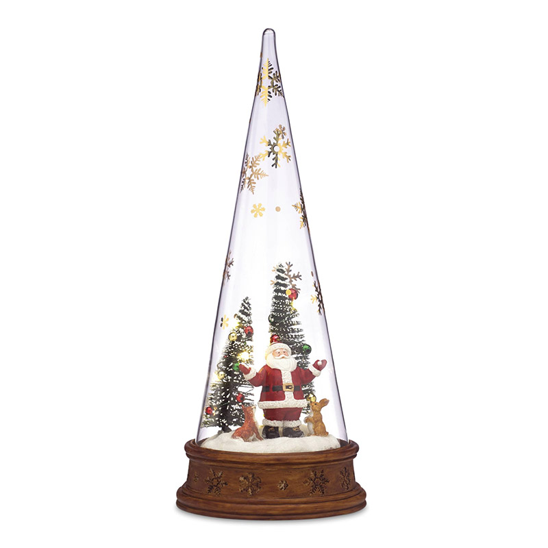 Glass Santa Scene | Lenox Christmas Tree Decoration | Our First Christmas