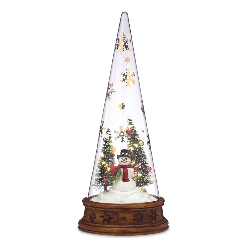 Glass Snowman Scene | Lenox Christmas Tree Decoration | Our First Christmas