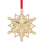 Lenox Ornament - Golden Snowflake