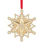 Lenox Ornament - Golden Snowflake