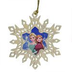 Lenox Frozen Princess Snowflake Silver Christmas Ornament