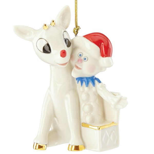 2015 lenox rudolph and charlie in a box porcelain