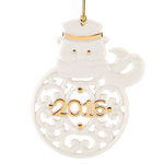 2016 Lenox A Year To Remember Porcelain Ornament