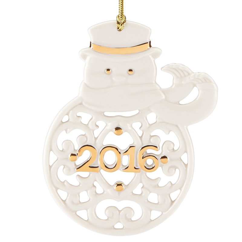 A year to remember snowman ornament 2016 lenox christmas for Christmas decorations 2016