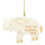 Baby's First Christmas Ornament 2016, Elephant - Lenox Ornaments