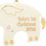 2016 Baby's First Christmas, Elephant | Lenox Christmas Tree Decoration | First Christmas Ornament