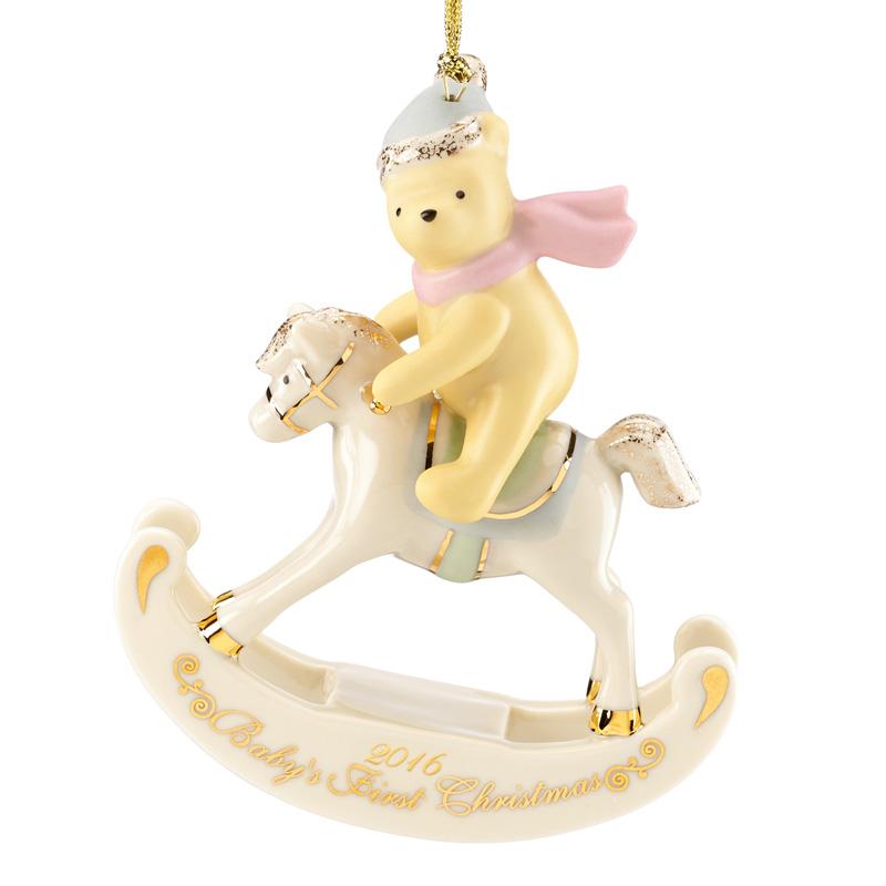 2016 Baby's First Christmas, Winnie the Pooh | Lenox Christmas Tree Decoration | Winnie the