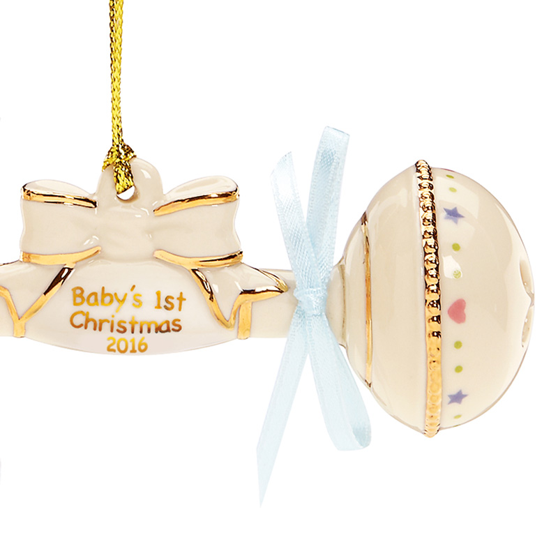 babys first christmas ornament australia baby ornaments 2013 rattle detail 2014