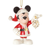 2016 Lenox Decorate The Season With Mickey Porcelain Ornament