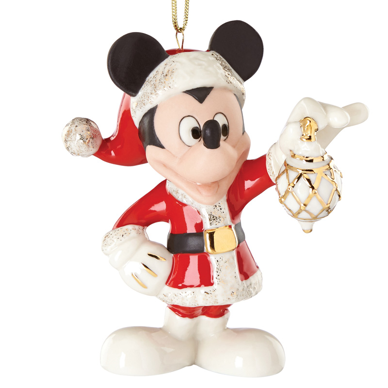 2016 decorate the season with mickey mouse lenox christmas tree decoration disney ornament - Mickey Mouse Ornaments Christmas