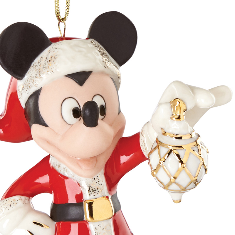 2016 decorate the season with mickey mouse lenox christmas tree decoration disney ornament - Mickey Mouse Christmas Decorations