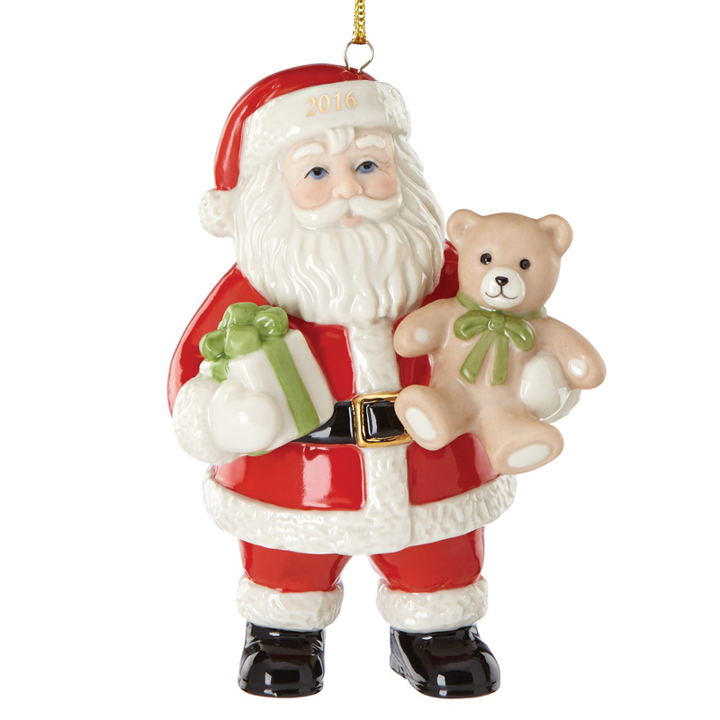 lenox good tidings santa 2016 lenox christmas ornaments