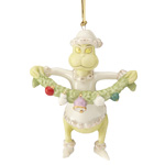 Lenox Grinch Ornament - Grinch Stealing the Garland Porcelain Christmas Ornament