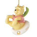 2016 Lenox Sledding Fun with Pooh Porcelain Ornament