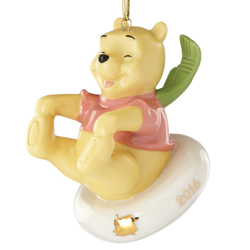 lenox sledding fun with pooh christmas tree decoration lenox ornaments disney christmas ornament - Winnie The Pooh Christmas Decorations
