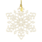 2016 Lenox Snow Fantasies Snowflake Porcelain Christmas Decoration
