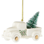 Lenox Holiday Truck with Christmas Tree Porcelain Ornament