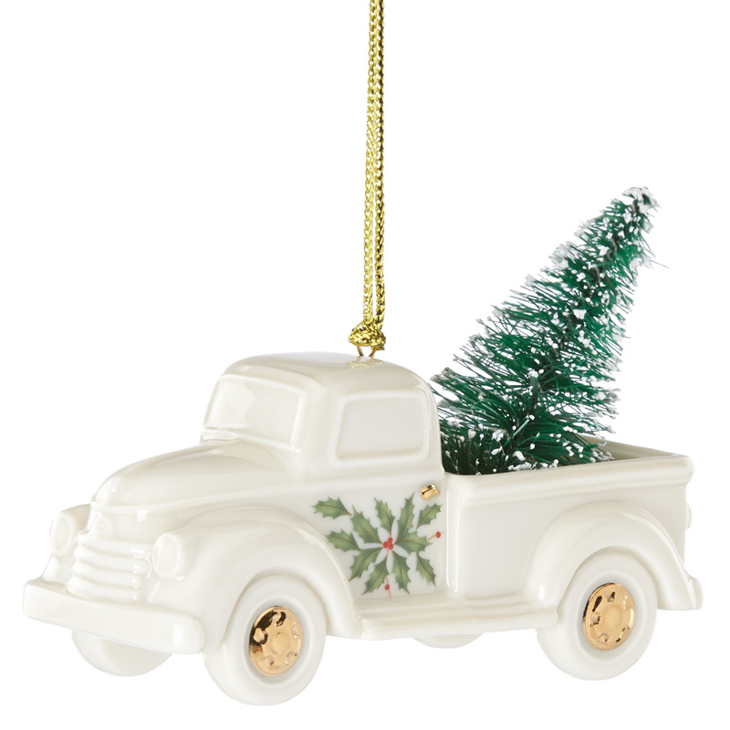 Holiday truck with christmas tree lenox ornaments