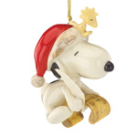 Lenox Snoopy Making a Christmas List Porcelain Ornament