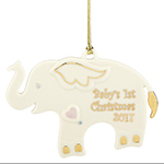 Baby's First Christmas Ornament 2017, Elephant - Lenox Ornaments