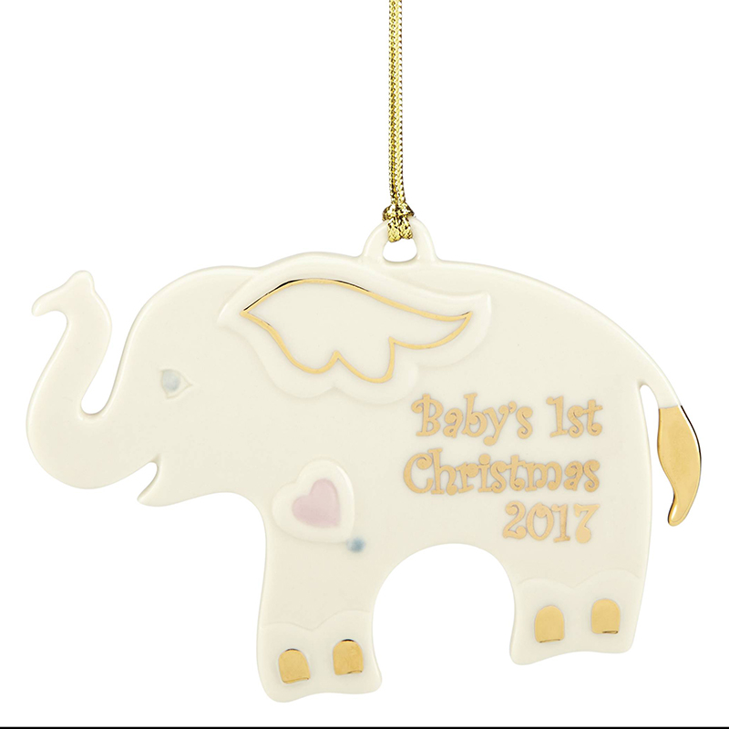 Baby's First Christmas Ornament 2017, Elephant | Lenox Christmas ...