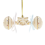 2017 Lenox Baby's First Christmas Rattle Porcelain Ornament